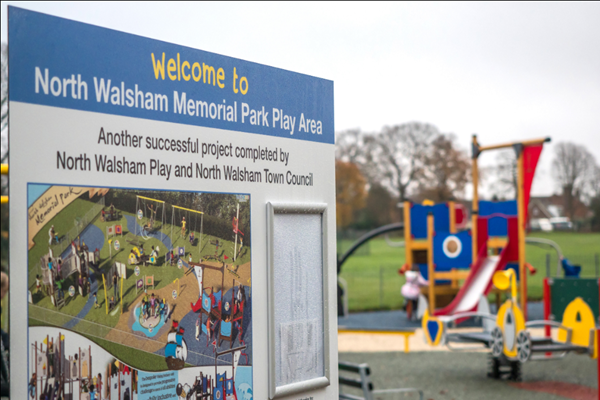 North Walsham new play area